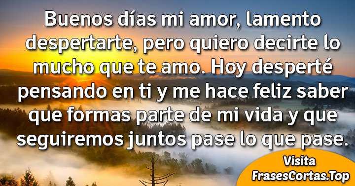 Frases Y Mensajes De Buenos Días Mi Amor Para Enamorar